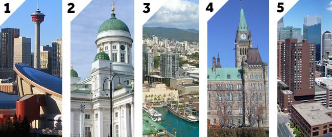 Top5 schoonste steden