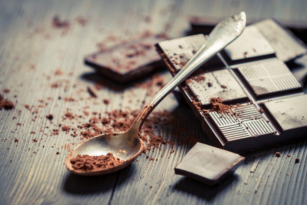 Chocolade met lepel